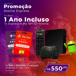 TV BOX + RECARGA ANUAL TVE...